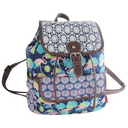 Unionbay Flamingo Print Buckle Backpack