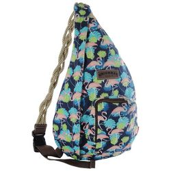 Unionbay Flamingo & Palm Frond Sling Backpack