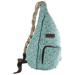 Unionbay Teal Owl Print Sling Backpack