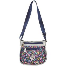 Stone Mountain Rare Earth Floral Saddle Crossbody Handbag