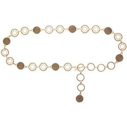 Bay Studio Womens Circle & Disc Chain Belt