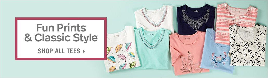 Fun Prints & Classic Style - Shop All Tees