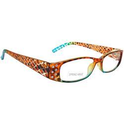 Womens  Rhinestone Snake Slim  Reading Glasses