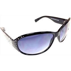 Womens Rhinestones Wrap Sun Reading Glasses