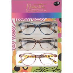 Womens 3-pk. Swirl Reading Glasses