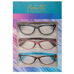Nanette Lepore Womens 3-pk. Aspheric Reading Glasses