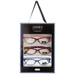 Jones New York Womens 3-pk. Two Tone Reading Glasses