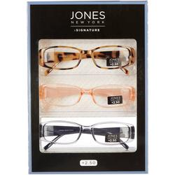 Womens 3-Pc. Square Reading Glasses