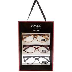 Womens 3-Pc. Tortoise Solid Reading Glasses