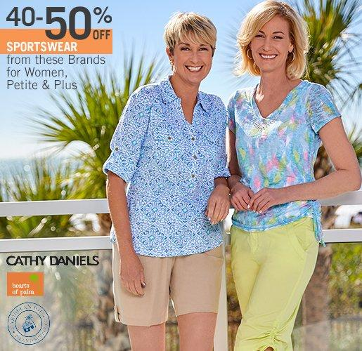 Women's Sportswear from Cathy Daniels, Hearts of Palm & Caribbean Joe