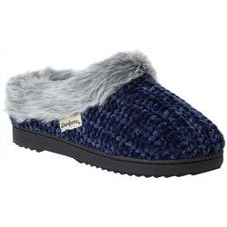 Dearfoams Womens Chenille Knit Memory Foam Clog Slippers