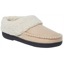 Dearfoams Womens Microsuede Whipstitch Clog Slippers