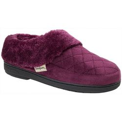 Dearfoams Womens Quilted Velour Clog Slippers