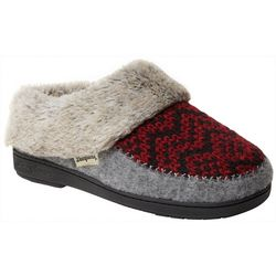 Dearfoams Womens Fairisle Knit Scuff Slippers