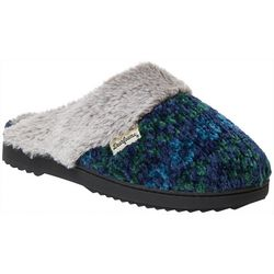 Dearfoams Womens Chenille Knit Clog Slippers