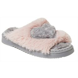 Dearfoams Womens Heart Slide Slippers