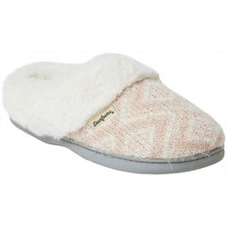 Dearfoams Womens Fairisle Print Clog Slippers