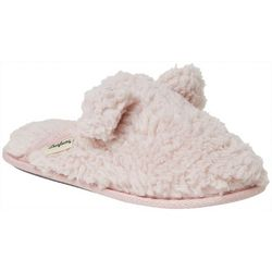 Dearfoams Womens Fluffy Sherpa Scuff Slippers