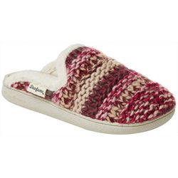 Dearfoams Womens Multicolor Textured Knit Clog Slippers