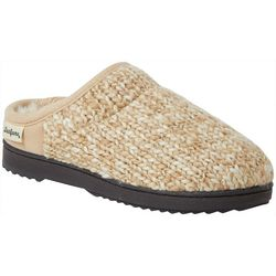 Dearfoams Womens Sparkle Knit Clog Slippers