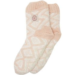 Dearfoams Womens Fairisle Knit Flurry Slipper Socks