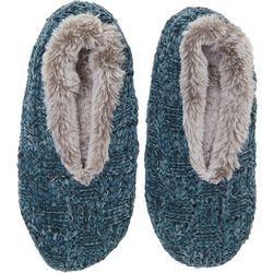 Dearfoams Womens Chenille Knit Toasty Slipper Socks
