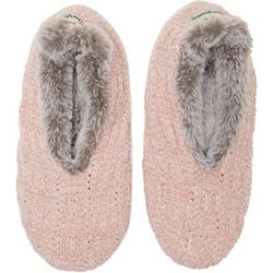 Dearfoams Womens Chenille Knit Toasty Slipper Socks