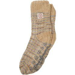 Dearfoams Womens Space Dye Knit Flurry Slipper Socks