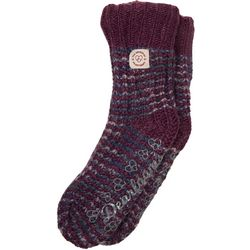 Dearfoams Womens Space Dye Knit Flurry Slipper Socks