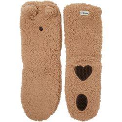 Dearfoams Womens Animal Flurry Slipper Socks