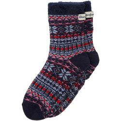 Dearfoams Womens Fairisle Knit Cabin Slipper Socks