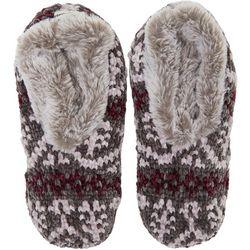 Dearfoams Womens Fairisle Knit Toasty Slipper Socks