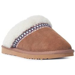 Muk Luks Womens Dawn Suede Clog Slippers