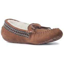 Muk Luks Womens Jane Suede Moccasin Slippers