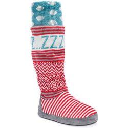 Muk Luks Womens Angie Tall Boot Slippers
