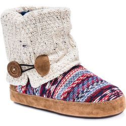 Muk Luks Womens Patti Diamond Boot Slippers