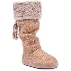 Muk Luks Womens Winona Sequin Tall Boot Slippers
