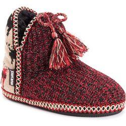 Muk Luks Womens Amira Tassel Bootie Slippers