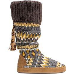 Muk Luks Womens Winona Tall Boot Slippers