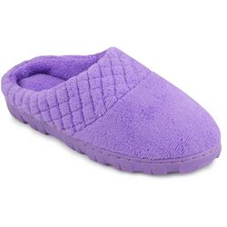 Muk Luks Womens Quilted Clog Slippers