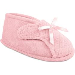 Womens Quilted Adjustable Bootie Slippers