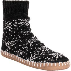 Muk Luks Womens Chenille Short Slipper Socks