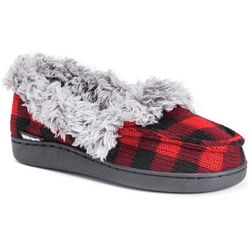 Muk Luks Womens Anais Plaid Moccasin Slippers