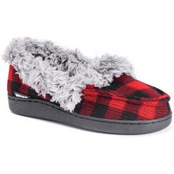 Womens Anais Plaid Moccasin Slippers