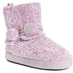 Muk Luks Womens Solid Pink Patti Slippers