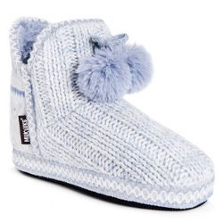 Muk Luks Womens Amira White Slippers