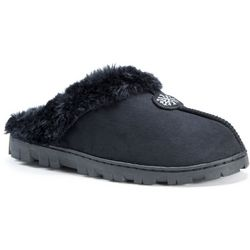 Muk Luks Womens Suede Faux Fur Clog Slippers