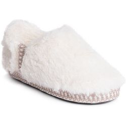 Muk Luks Womens Joana Fur Moccasin Slippers