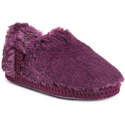 Muk Luks Womens Joana Fur Moccasin Slippers