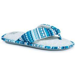 Muk Luks Womens Dawna Thong Style Slipper